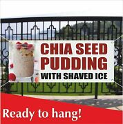 Chia Seed Pudding With Shaved Ice Advertising Vinyl Banner / Mesh Banner Sign