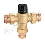 Caleffi 523186a 1-1/2 Press High Flow Thermostatic Mixing Valve 13 Cv Lead Free