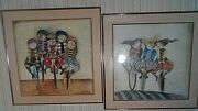 Two Rodo Boulanger Prints Tour De France Print And Holiday On Wheels 1976
