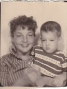 Vintage Photo Booth - Cute, Pouty Young Son W/arm Around Sweet, Smiling Mom