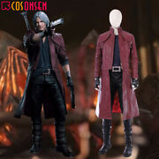 Devil May Cry V 5 Dante Dmc 5 Cosplay Costume Deluxe Leather Outfit Custom Lot