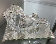 Crystal Figurines 1995 Inspiration Africa Lion With Box N Papers