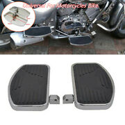 A Pair Universal Motorcycle Left+right Floorboards Foot Boards Pedal Time-proof