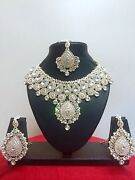 Indian Bollywood Style Fashion Rose Gold Plated Bridal Jewelry Necklace Set