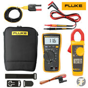 Fluke 116 Multimeter Kit6k With 323 Clamp Meter Plus Leads, Thermocouple And Bag