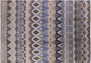 10and039 0 X 14and039 0 Ikat Hand Knotted Wool Rug - H7256