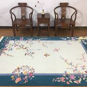 Yilong 5.5'x8' Antique Hand Knotted Wool Rug Chinese Art Deco Carpet Tj003