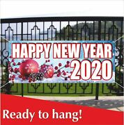 Happy New Year 2020 Advertising Banner Vinyl / Mesh Banner Sign Decoration Party