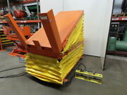 American 4000lb Pneumatic Scissor Lift And 30° Tilt 80x38 Table 18 To 39 Heigh