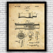Goose Hunting Wildlife Outdoors Call Patent Art Print - Size And Frame Options