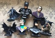 Dc Direct The Ultimate Batman And Joker Large Bust Collection 7 Different No Box