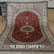 Yilong 6x9and039 Classic Silk Area Rug Handknotted Modern Carpet Indoor Handmade 1241