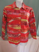 Coldwater Creek Jacket Casual Xl Orange Pink Yellow White Black More Buttons