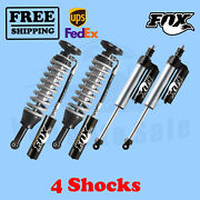 Fox Shocks Kit 4 Front 0-3 And Rear 0-1.5 Lift For Toyota Tundra 2007-20