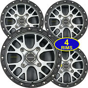 Four 15 Aluminum Rims Wheels Most Can-am Atv Center Caps And Lug Nuts 15x7 4/137