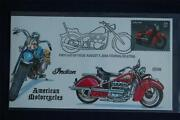 American Motorcycles Indian 39c Stamp Fdc Handpainted Collinsc4201 Sc4085