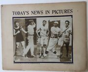 1912 Today's News In Pictures International News 5 Photos Includes Jim Thorpe