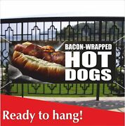 Bacon-wrapped Hot Dogs Advertising Vinyl Banner / Mesh Banner Sign Lamb Tacos