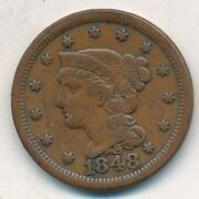 1848 Braided Hair Large Cent-very Nice Circulated Large Cent-ships Free Inv5