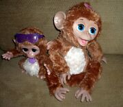 Furreal Friends Cuddles My Giggly Monkey Large And Baby Cuddles Set Of 2