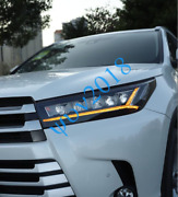 1pair Headlights Head Light Lamp Led Drl Modified For Toyota Highlander 2017-19s