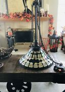 Arts And Craft Style Stained Glass Chandelier Swag Hanging Ceiling Light