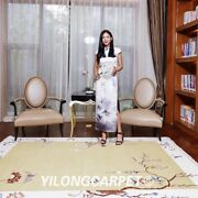 Yilong 5.5and039x8and039 Modern Hand Knotted Wool Rug Chinese Art Deco Cute Area Carpet