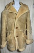 Vintage Bermanand039s Genuine Sheepskin Coat Tag Reads Size 40 Pre-owned