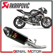 Exhaust Carbon Not Approved Akrapovic Triumph Street Triple 765 R 2017 2020