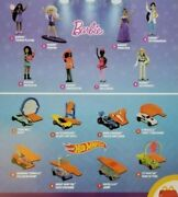 Hot Wheels + Barbie 2019 Edition Mcdonalds Happy Meal All Toys And Sets 1-16