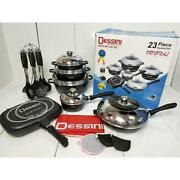Dessini Italy Cooking Set Cookware Fry Pan Bbq Kitchen 23 Pcs