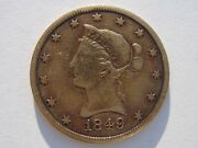 1849 Liberty Gold Eagle 10 Dollar Nice Coin Rare Early Date Low Mintage