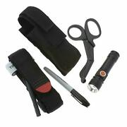 One Hand Tourniquet Kit Combat Application First Aid Trauma Shears Molle Pouch