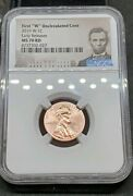 2019 W 1c Lincoln Cent Uncirculated Ngc Ms70 Rd Early Release With Sealed Set