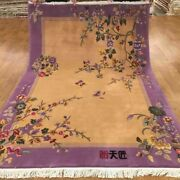 Yilong 5.5and039x8and039 Warm Chinese Wool Carpet Art Deco Vintage Family Room Rug Tj006s
