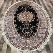Yilong 5and039x8and039 Oval Hand Made Classic Silk Carpet Home Decor Oriental Rug W332a