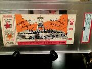 1967 All Star Game Ticket Signed And Insc. By Mvp Tony Perez Psa/dna