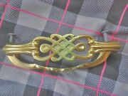 Drawer Pull - Asian Motif - Solid Brass Made In Germany 4 1/2 Set Of 2