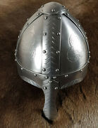 Hand Made Norman Helmet With Nasal For Re-enactors And Collectors By Wulflund