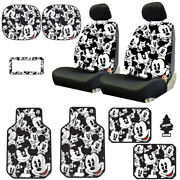 For Mazda New Mickey Mouse 14pc Car Seat Covers Floor Mats And Accessories Set