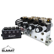 Electric Hydraulic Double Acting Control Valve W/ Rocker Switch 4 Spool 15 Gpm