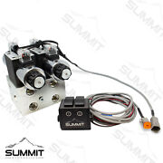 Electric Hydraulic Double Acting Control Valve W/ Rocker Switch 2 Spool 25 Gpm
