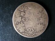 50 Cents 1872h Inv A/v Canada Queen Victoria Silver Coin C Andcent Half Dollar Ag-3