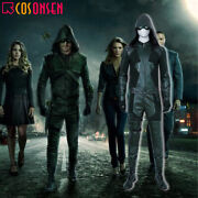 Green Arrow Season 8 Oliver Queen Cosplay Costume Outfit Customize Halloween Lot