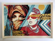 Shepard Fairey Golden Future For Some Large Format Screen Print Obey Giant Art