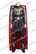 Thor The Dark World Cosplay Thor Odinson Costume Red Cape Outfits Full Set