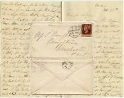 Gb 1870 Personal Letter To Miss S.bompas Winchester 1d Red Mismatched Letters