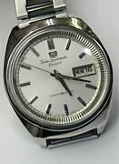 Seiko Sportsmatic Five Deluxe Cal.7619a Auto Vintage Watch 1965's Overhauled
