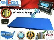 Wireless Cordless 48x48 4and039 X 4and039floor Scale 1 Ramp 10000 Lbs X 2 Lb