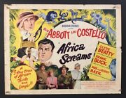 Abbott And Costello Africa Screams Half Sheet Movie Poster  Hollywood Posters
